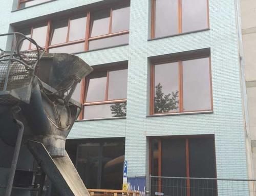 Anhydriet-vloeivloer verdeeld over 5 verdiepingen te Amsterdam
