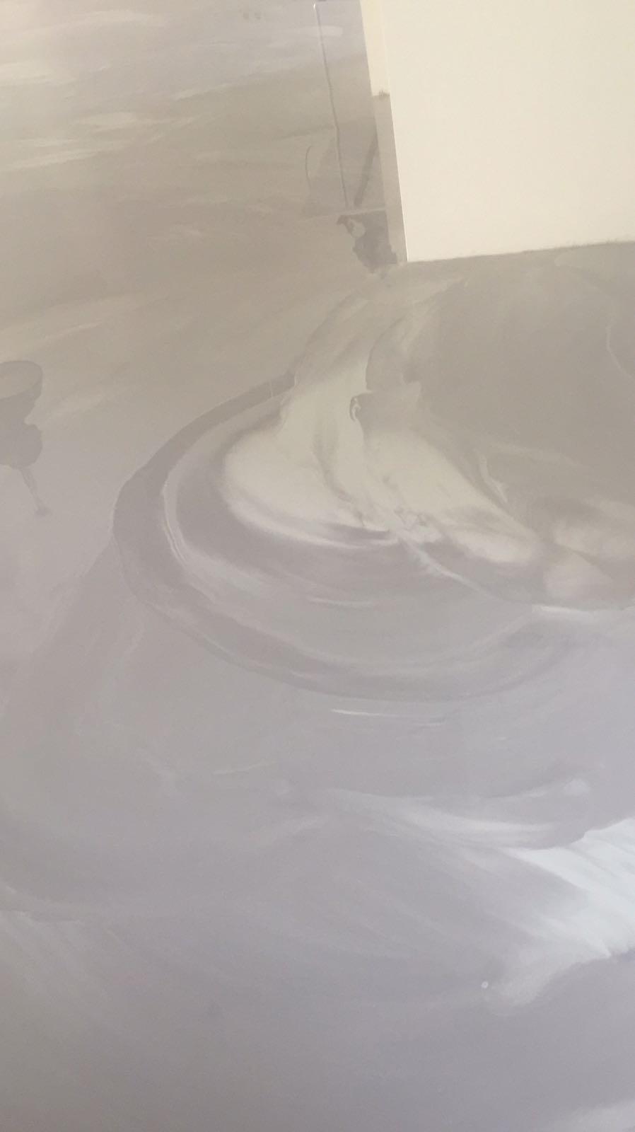 Pu-betonlook gietvloer in 2 kleuren